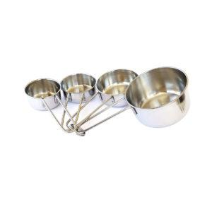Conjunto de xícara medidora Inox 4 peças