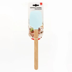 Espátula de bambu com silicone
