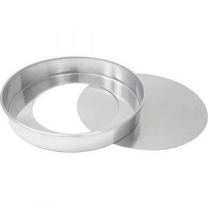 Forma redonda com fundo removível 23cm (baixa)